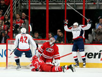 Capitals sneak past Hurricanes on Fehr