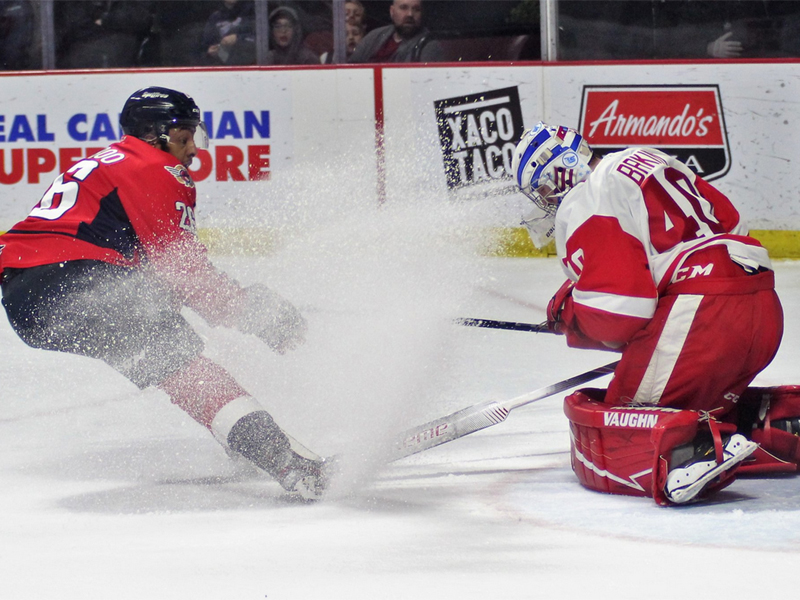 SHORT SHIFT - Spits fall to Hounds, lose 7th straight at home