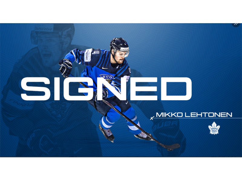 Maple Leafs Sign Mikko Lehtonen