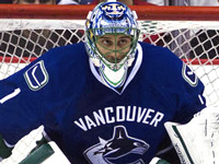 Roberto Luongo in a Leafs uniform