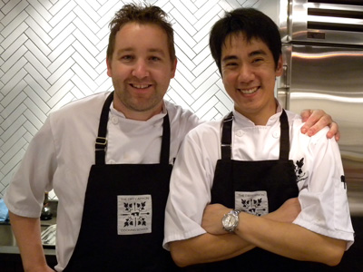 Chefs David Robertson and Takashi Mizukami of The Dirty Apron