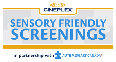 Sensory Friendly Cineplex Entertainment at Devonshire Mall and Across the Country